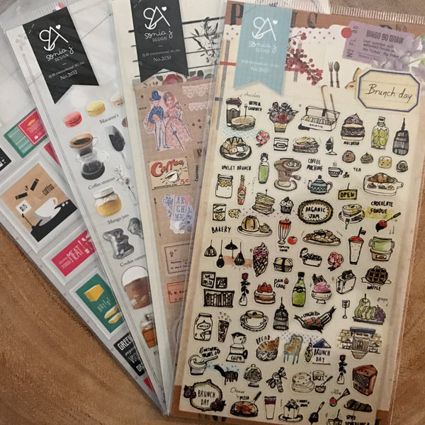 Suatelier Sonia Stickers Brunch Series | Suatelier Sonia貼紙 早午餐系列