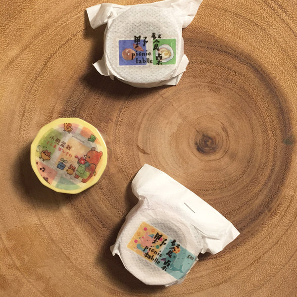 野餐桌紙膠帶 美好時光系列 | Picnic Tablle Washi Tape Good Days Collection