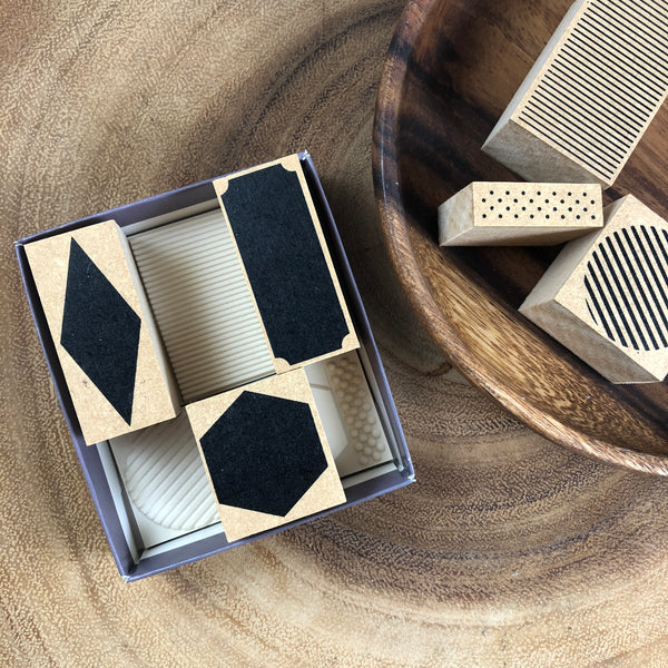 Ours Geometric Blocks Stamp Set | 幾何色塊印章組