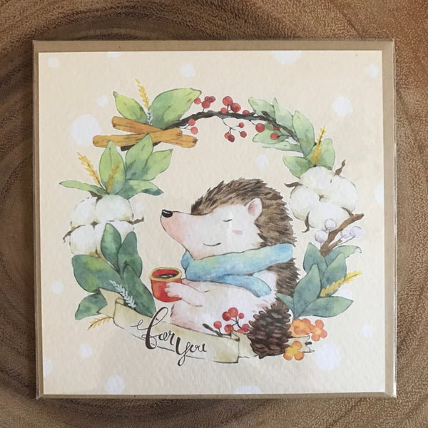 Ours Greeting Cards, Animal Wreath | 庫巴 花圈動物問候卡