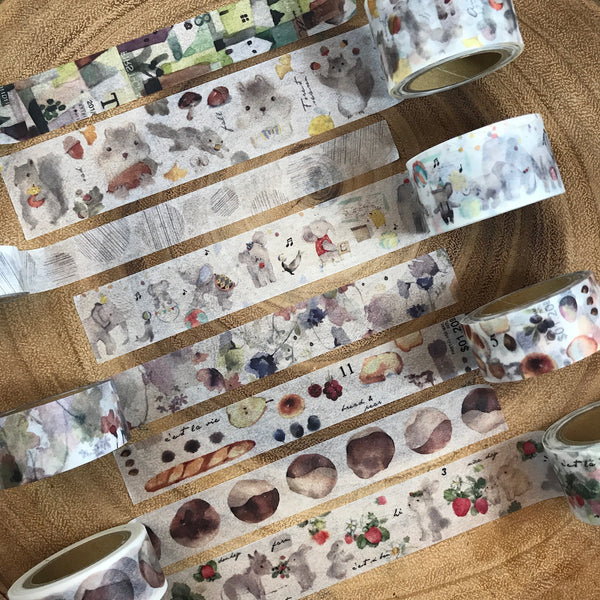 Liang Feng Washi Tape Vol. 3 - Illustration Books | 小徑文化 x 涼丰 第三彈 繪本之詩