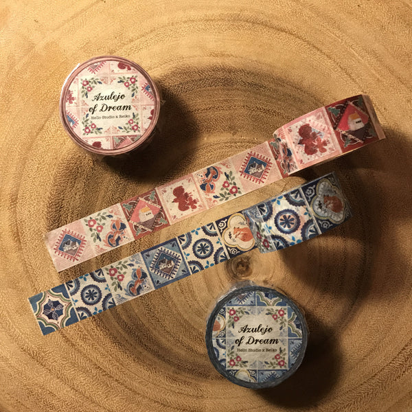 Hello Studio Azulejo of Dream Washi Tape | 你好工作室 花磚紙膠帶