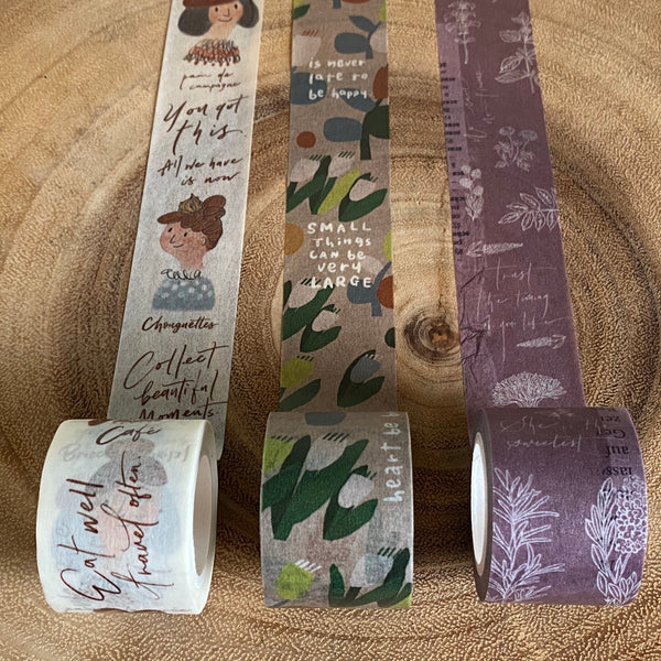 Mr. Eggplants Washi Tape, SHIWU Special Series | 茄子先生紙膠帶 什物合作系列