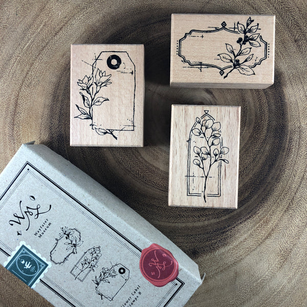 Ours Flower Label Stamp Set B | 花標籤印章組 B
