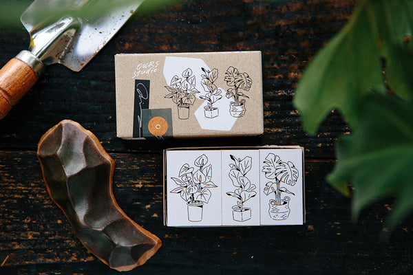 Ours Stamp Set, Daily Florist Series, Dear Roommates | 漢克 x 庫巴印章組 日常花房系列, 安靜的室友