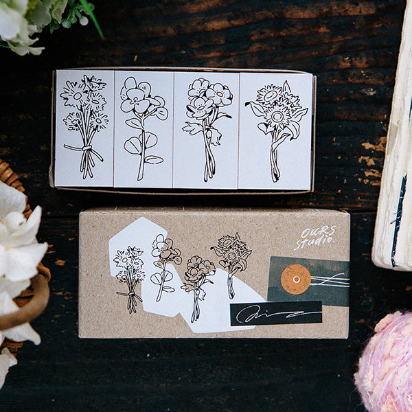 Ours Stamp Set, Daily Florist Series, Flowers for You | 漢克 x 庫巴印章組 日常花房系列, 給你的花束
