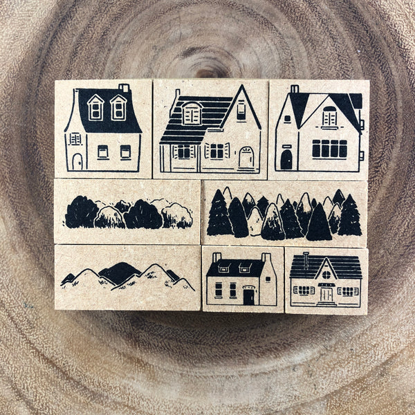 Ours Somewhere Someone Stamp Set | 小鎮手記印章組