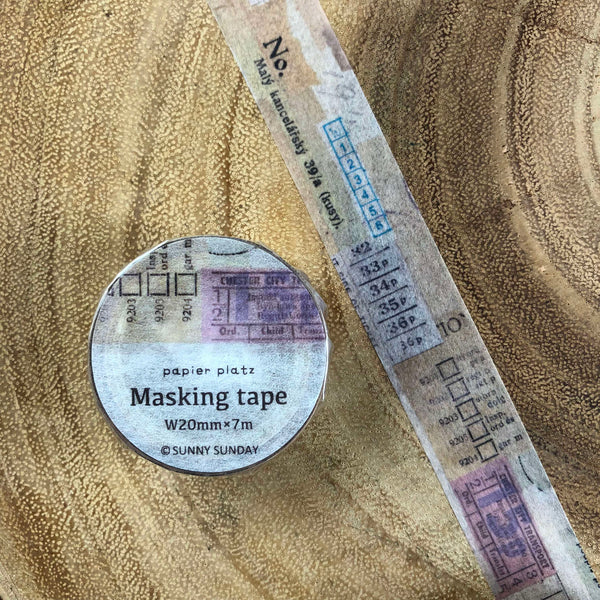Sunny Sunday Masking Tape Collage Series | Sunny Sunday和紙膠帶 拼貼系列