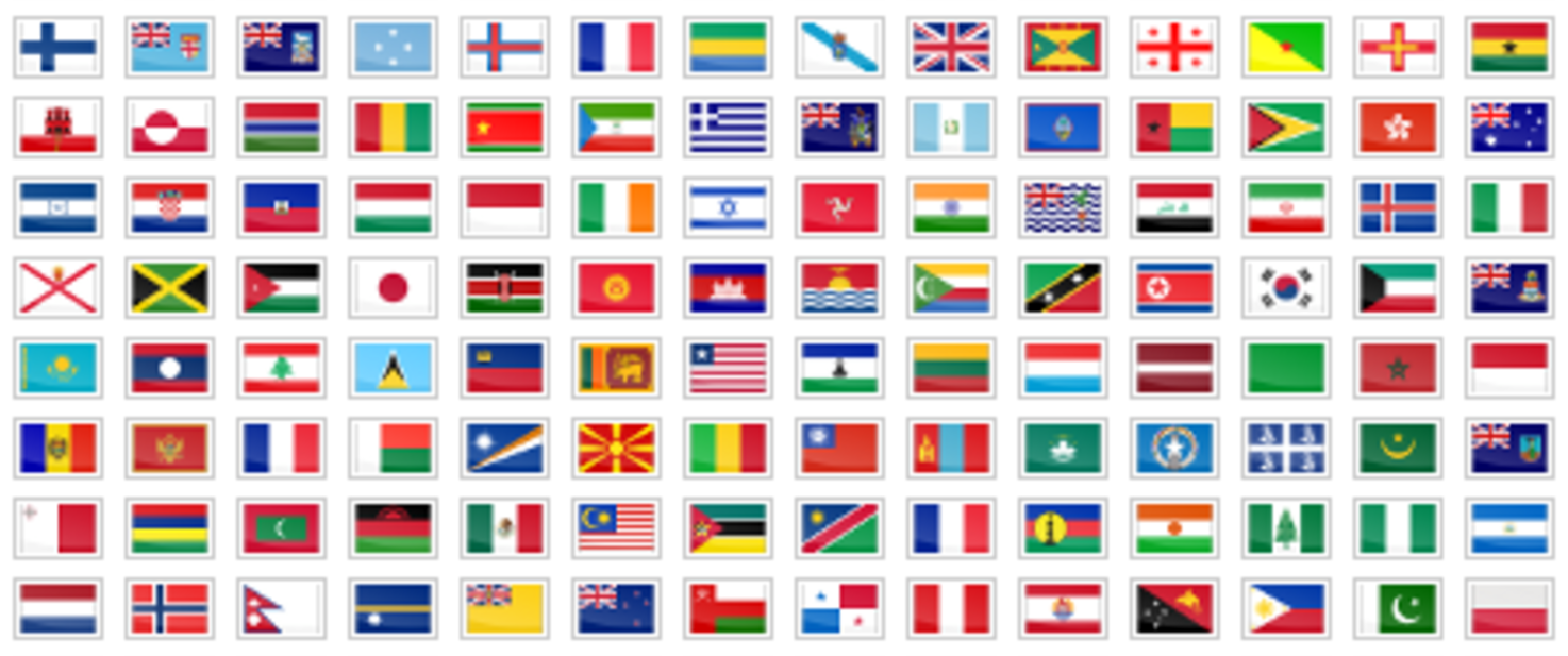 Add a selection of multi-language links with flag icons on your website