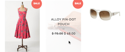 Hover effect on product images on collection pages