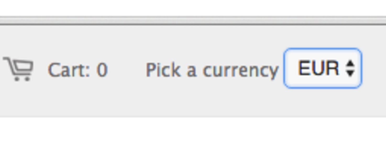 Show multiple currencies in a dropdown list | Blimpon
