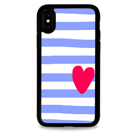 "Striped Hearts ""blue"""