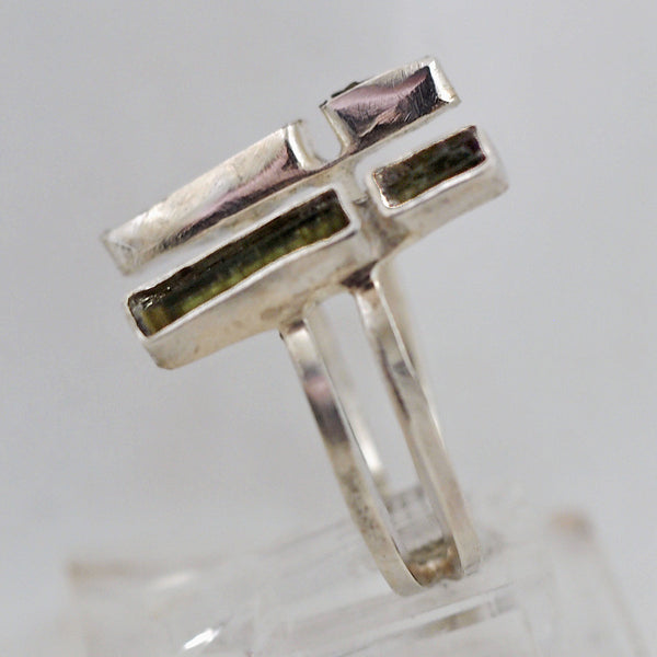 Sleek Green Tourmaline Ring