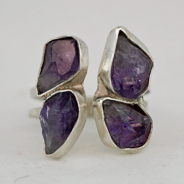 Sleek Amethyst Ring