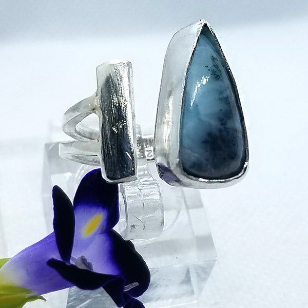 Sleek Larimar Ring