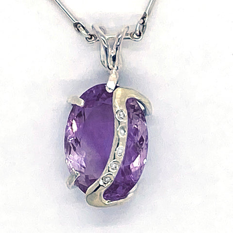 Ametrine & Diamonds Pendant