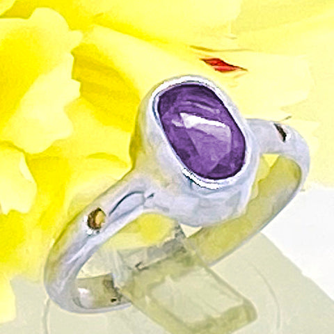 Ametyst & Citrine Ring (size 5)