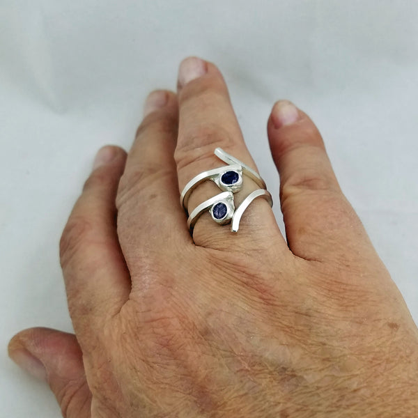 Sleender Amethsyt Ring