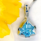 Blue Topaz & Diamonds Pendant