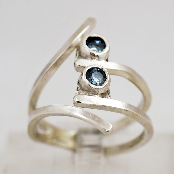 Slender Blue Topaz Ring