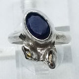 Blue and Yellow Sapphire Ring