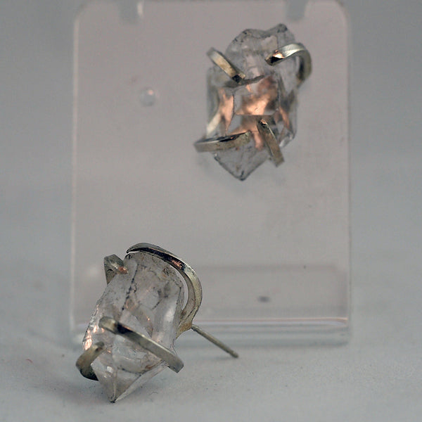 Quartz Crystal Point Post Earrings