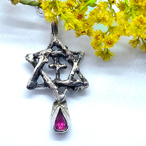 Star of David & Cross Pendant