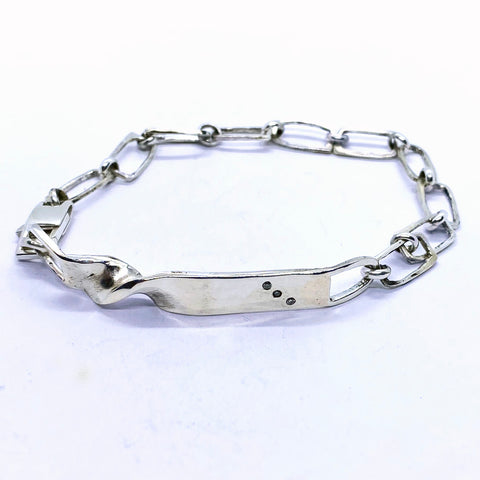 Unisex Twisted Diamond Bracelet