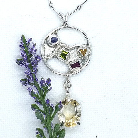 Full Moon Citrine Pendant