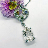 Quartz Crystal in Love Pendant