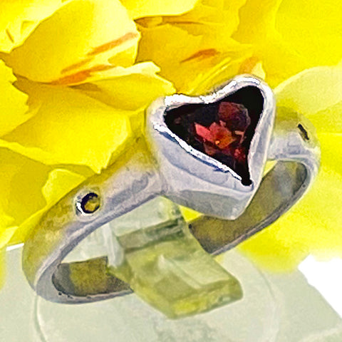 Garnet & Citrine Ring (size 6)