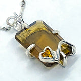 Honey Citrine and Citrine Pendant