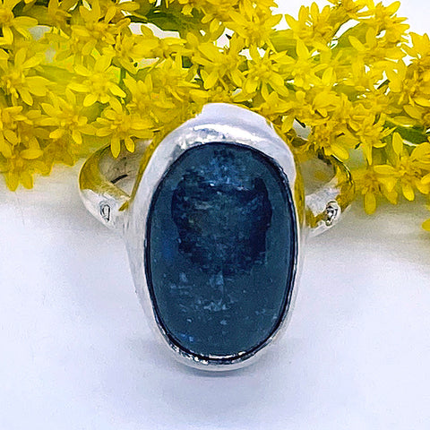 Kyanite and diamonds Ring (size 6 1/2)