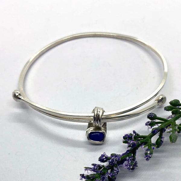 Adjustable Lapis Lazuli Bangle