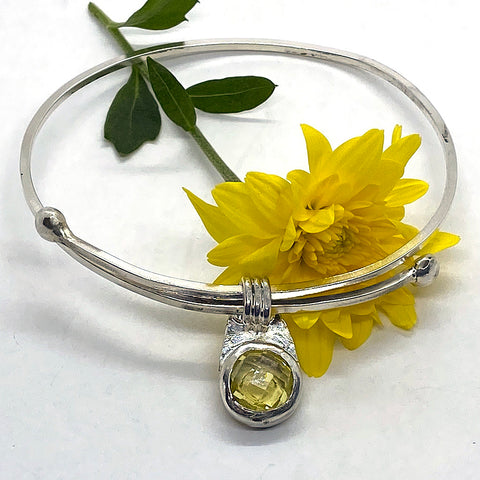Adjustable Lemon Quartz Bangle