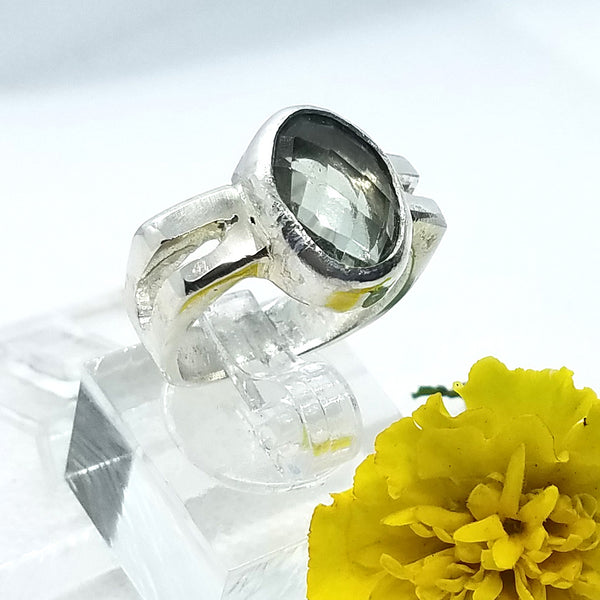 Green Amethyst Split Ring