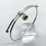 Adjustable Malachite Bangle