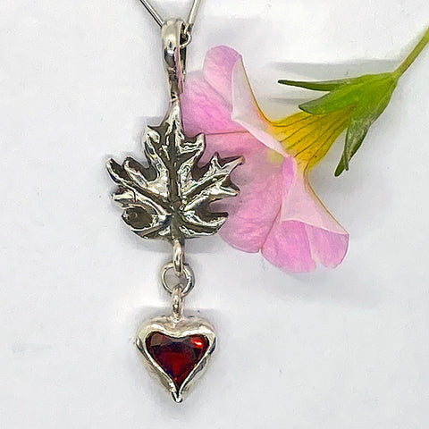 Garner & Maple Leaf Pendant