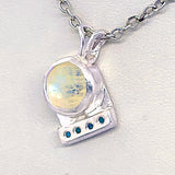 Moonstone & Diamond  Pendant