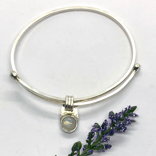 Adjustable Moonstone Bangle