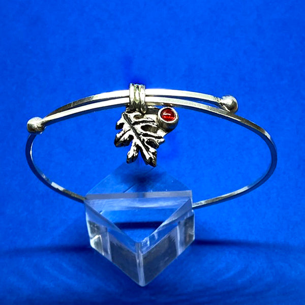 Adjustable Oak Leaf Bangle