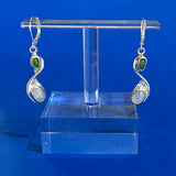 Moonstone & Nephrite Jade Dangle Earrings