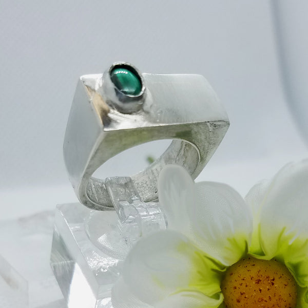 Statement Malachite Ring
