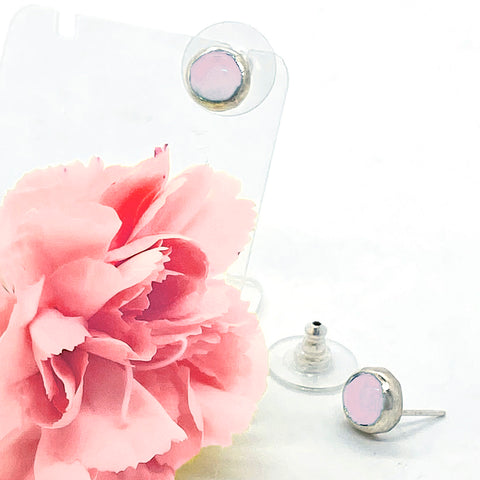 Rose Quartz Post earrings