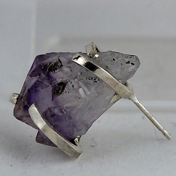 Amethyst Point Post Earrings
