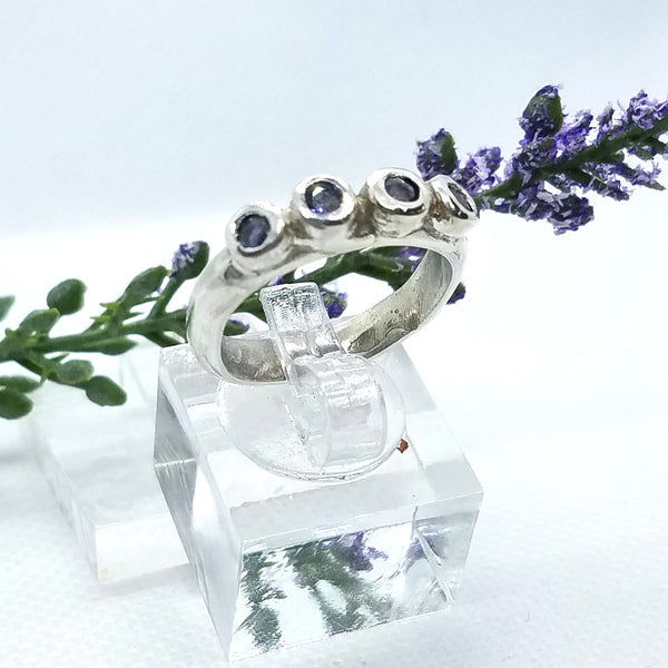 Iolite Row Ring