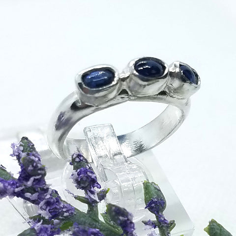 Kyanite Row Ring