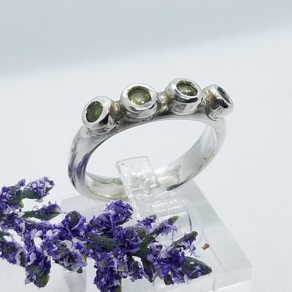 Peridot Row Ring