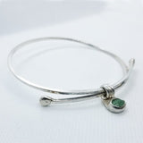 Adjustable Aventurine Bangle