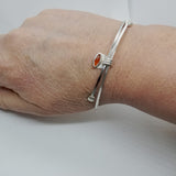 Adjustable Carnelian Bangle